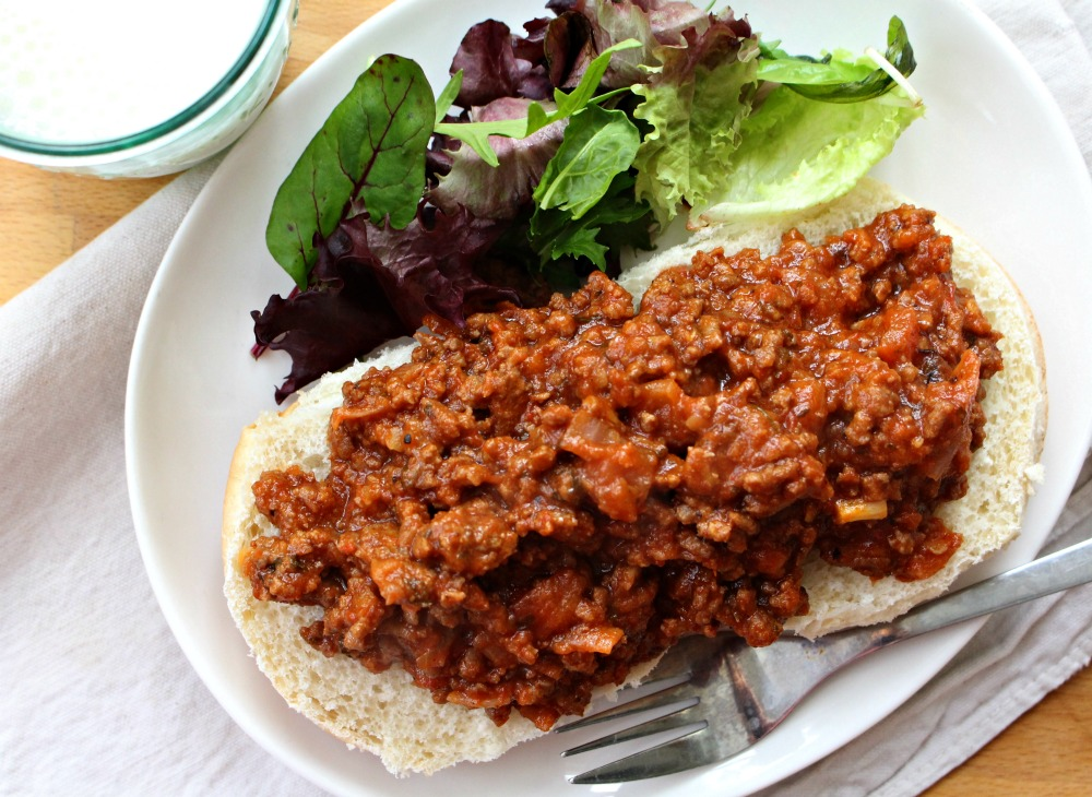 Sloppy Joes with red lentils