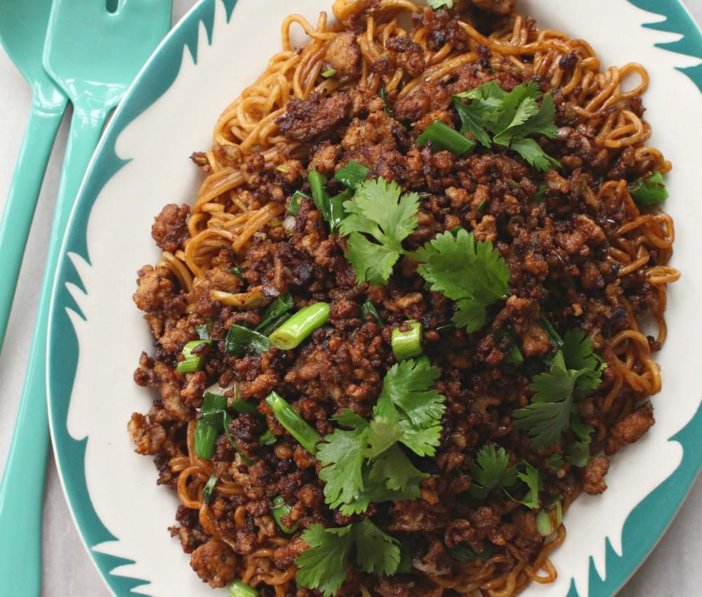 sesame noodles with pork 1