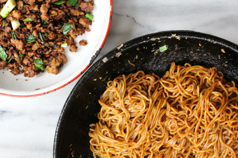 sesame noodles with pork 2