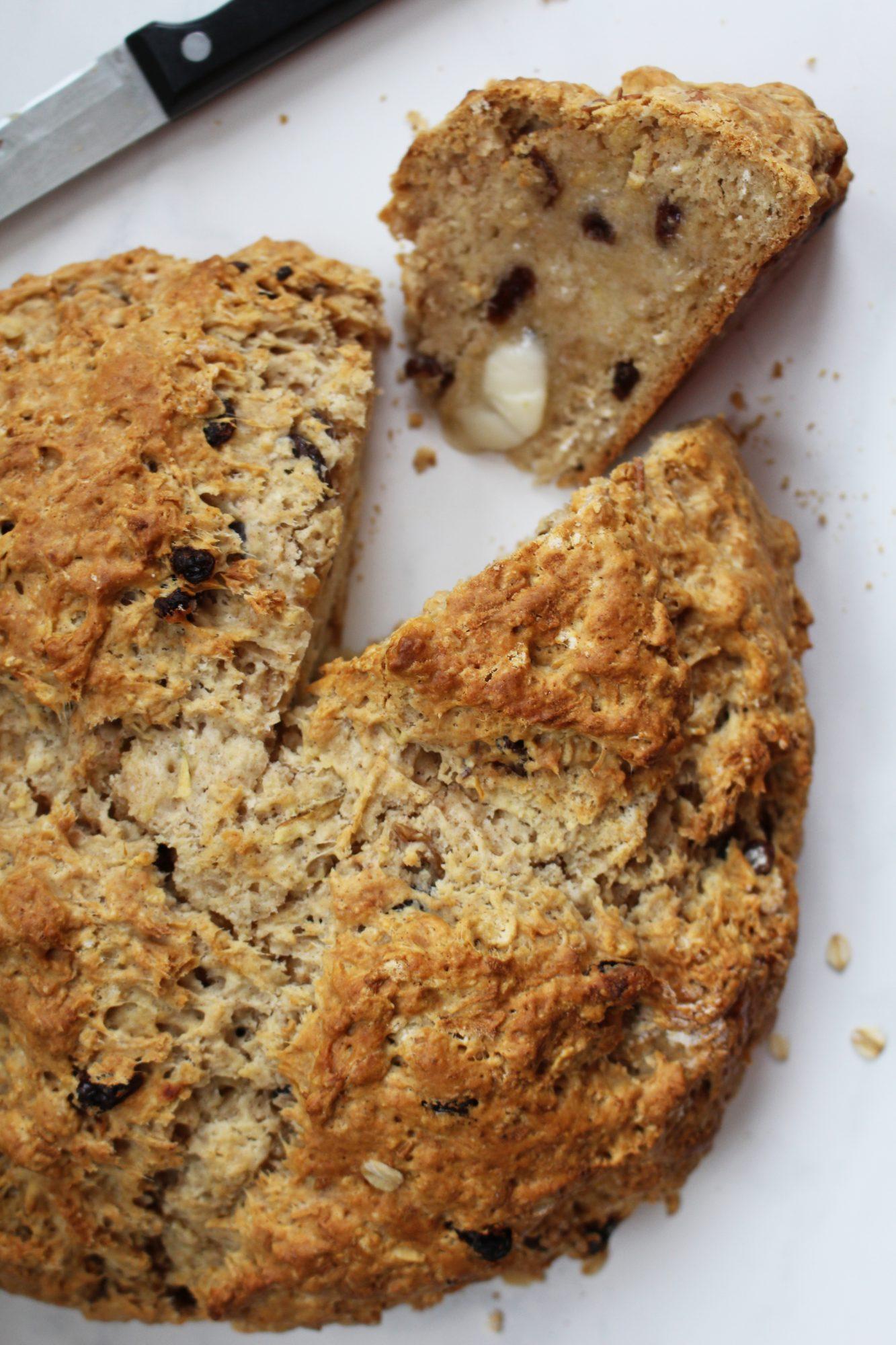 Cinnamon Raisin Apple Irish Soda Bread 1