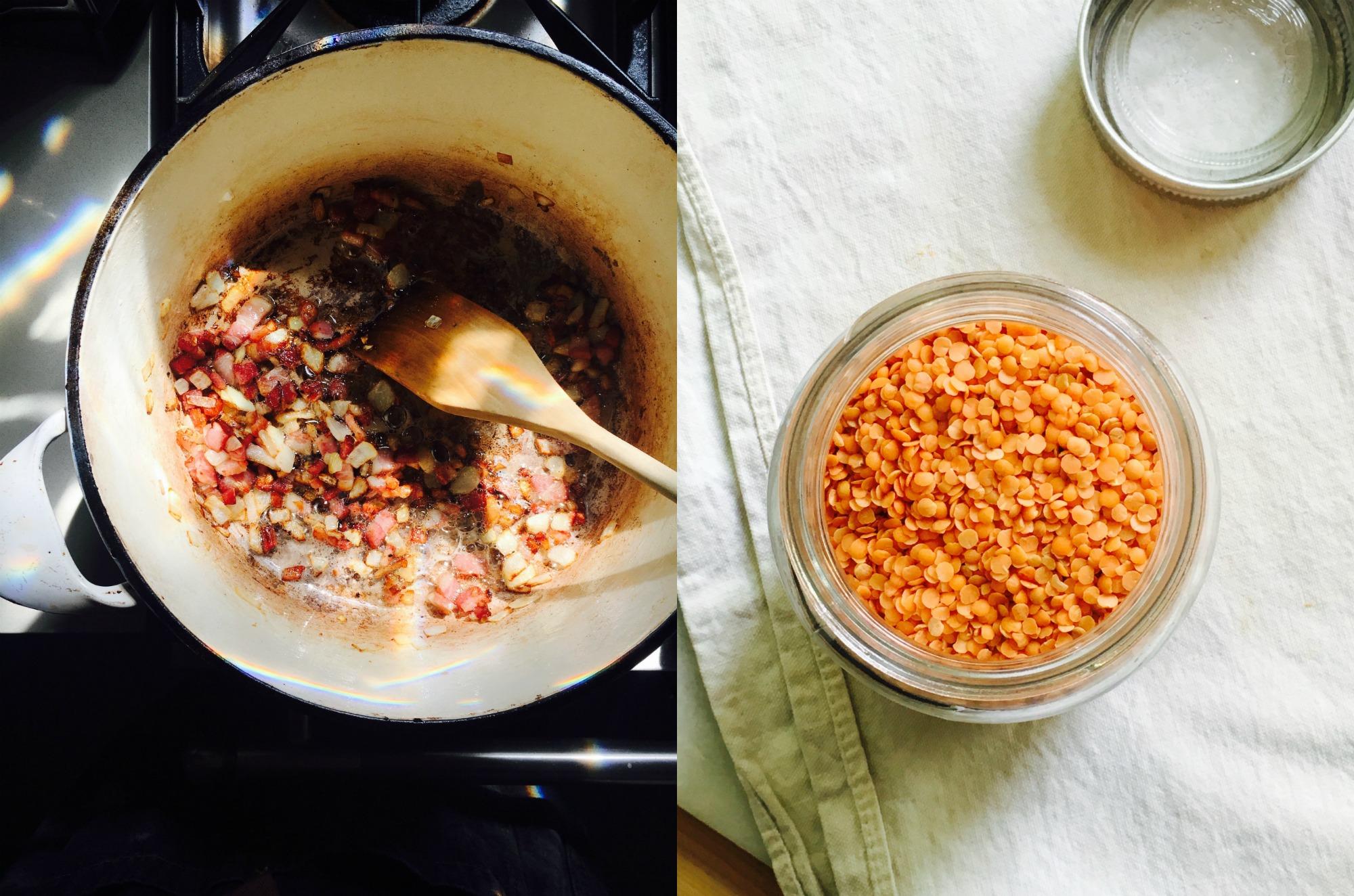 Lentils like baked beans 4