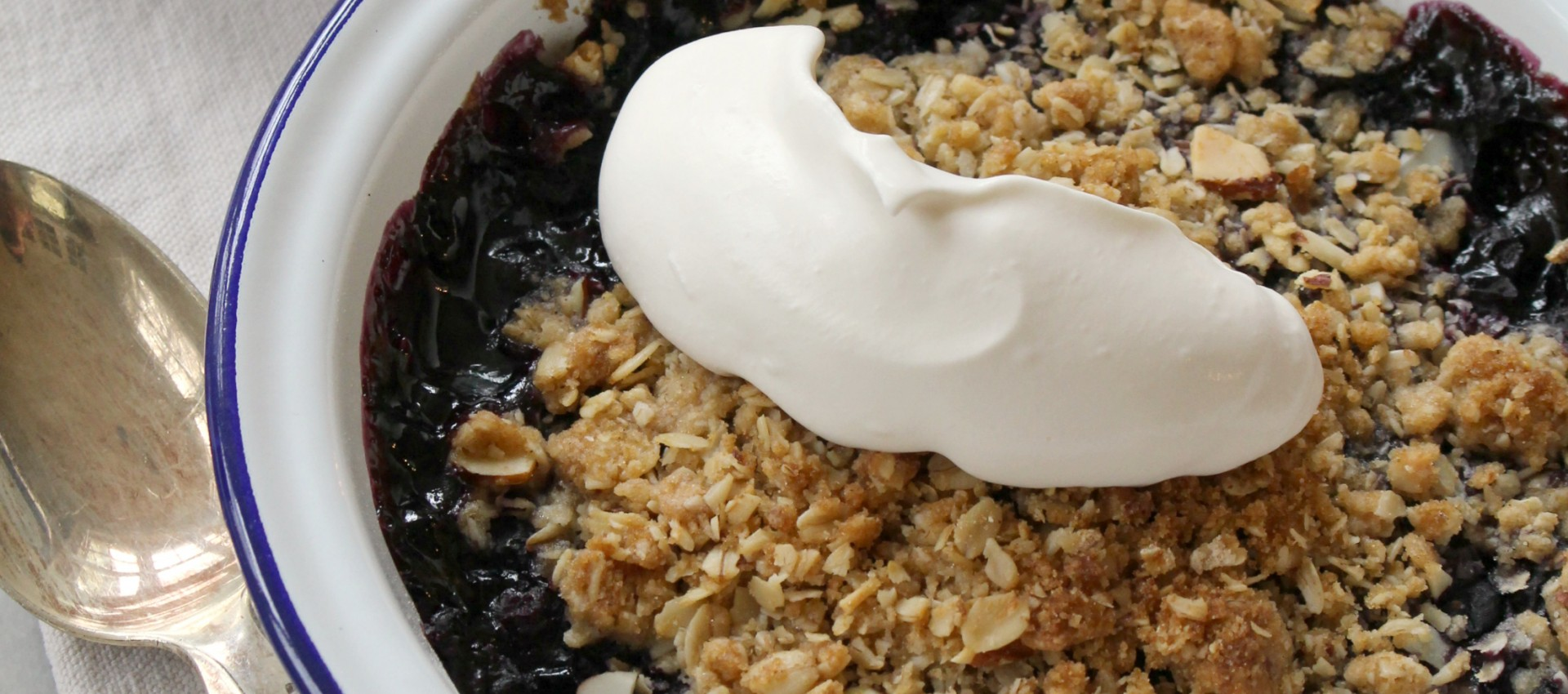 Bourbon Blueberry Crisp
