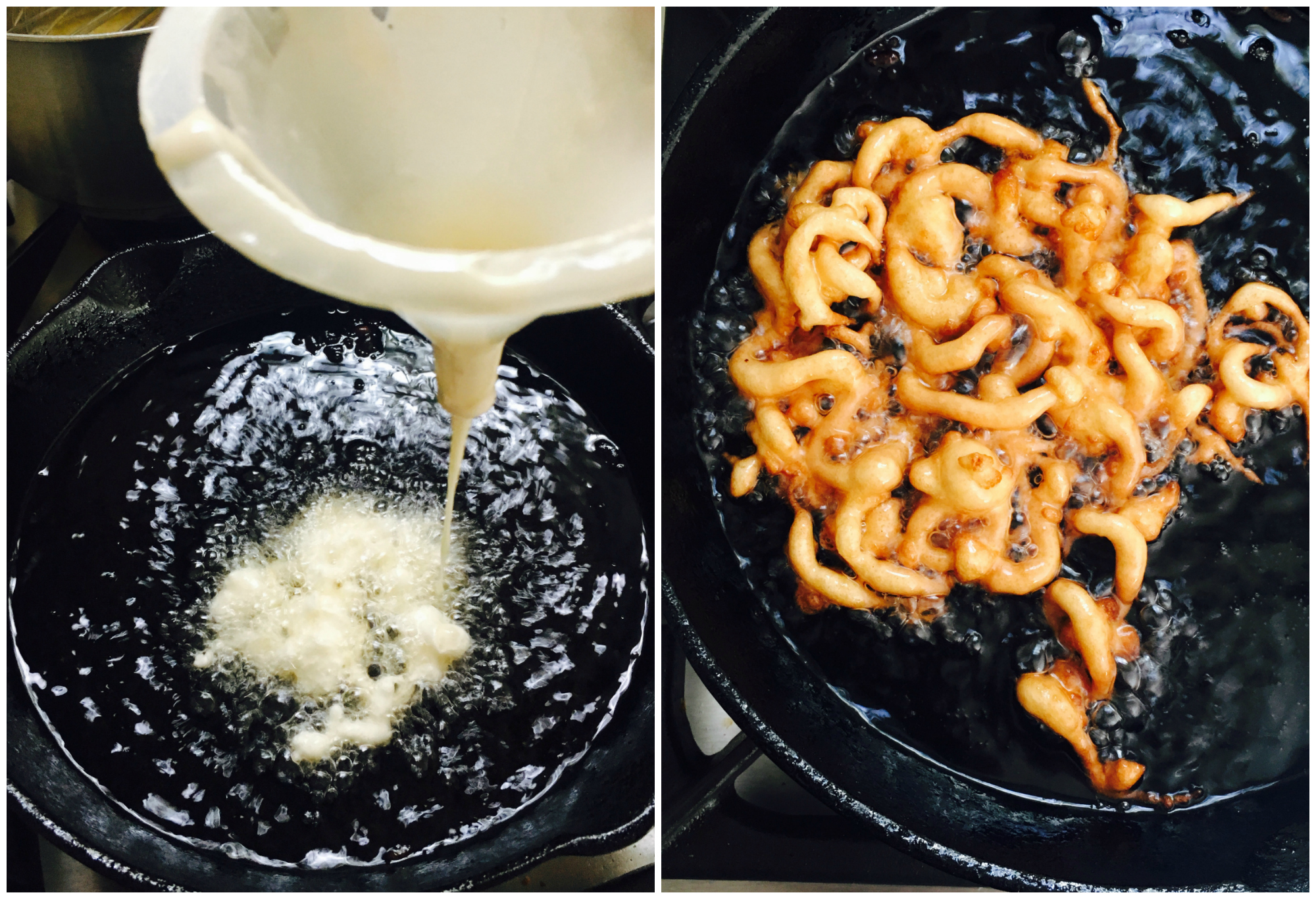 Cooking funnel cakes