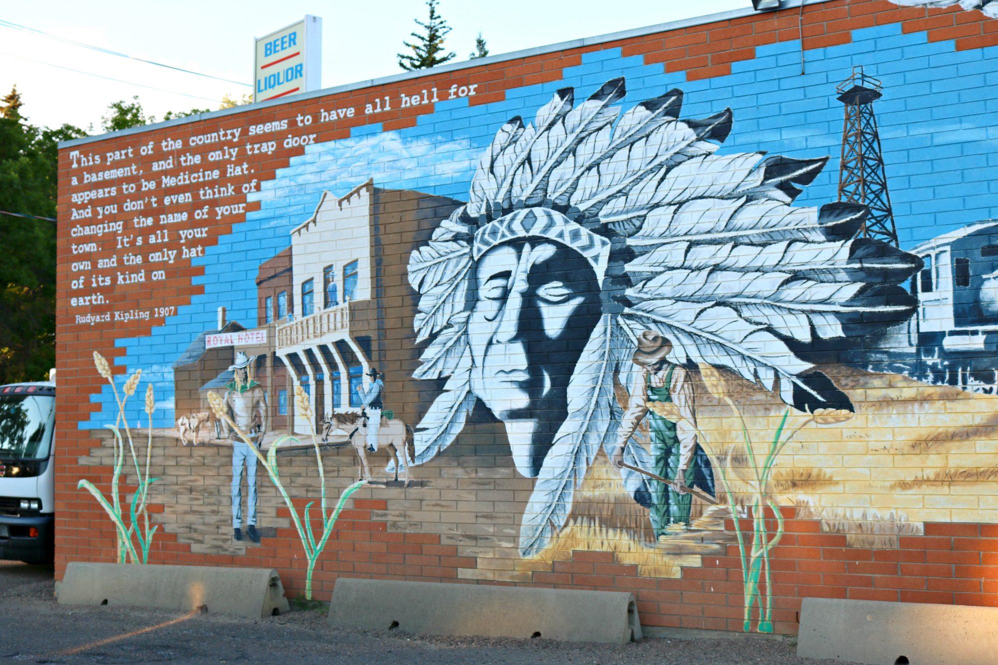 Medicine Hat mural