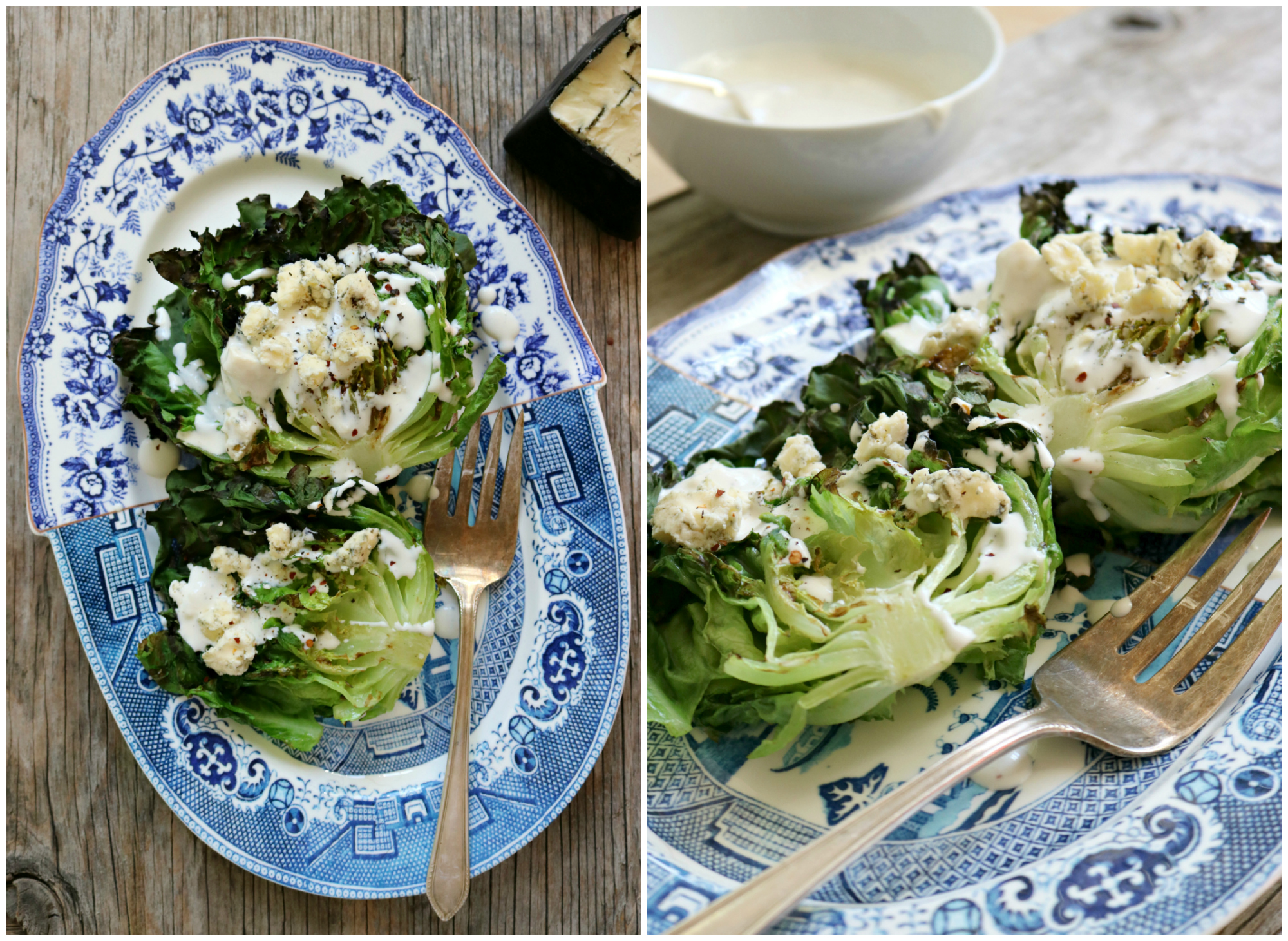 Grilled Lettuce with Blue Cheese Dressing 10