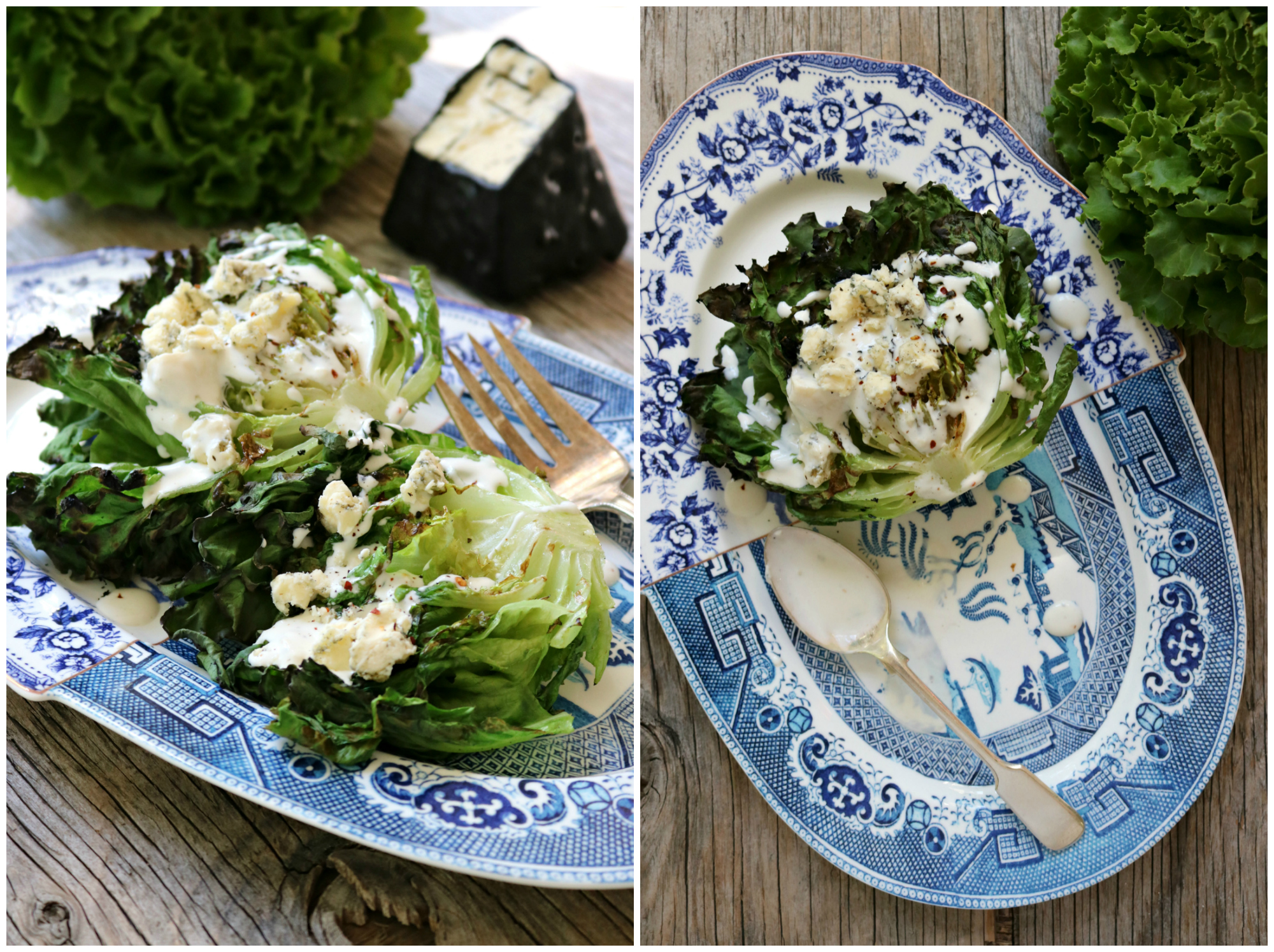 Grilled Lettuce with Blue Cheese Dressing 11