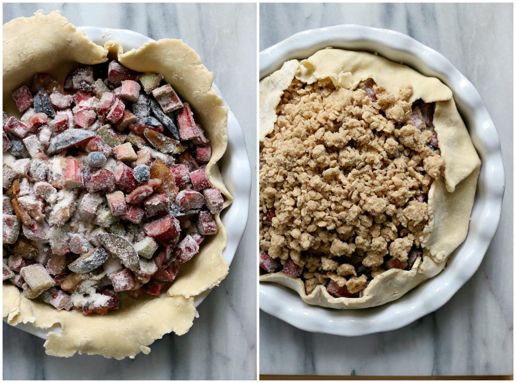 Rhubarb Plum Pie