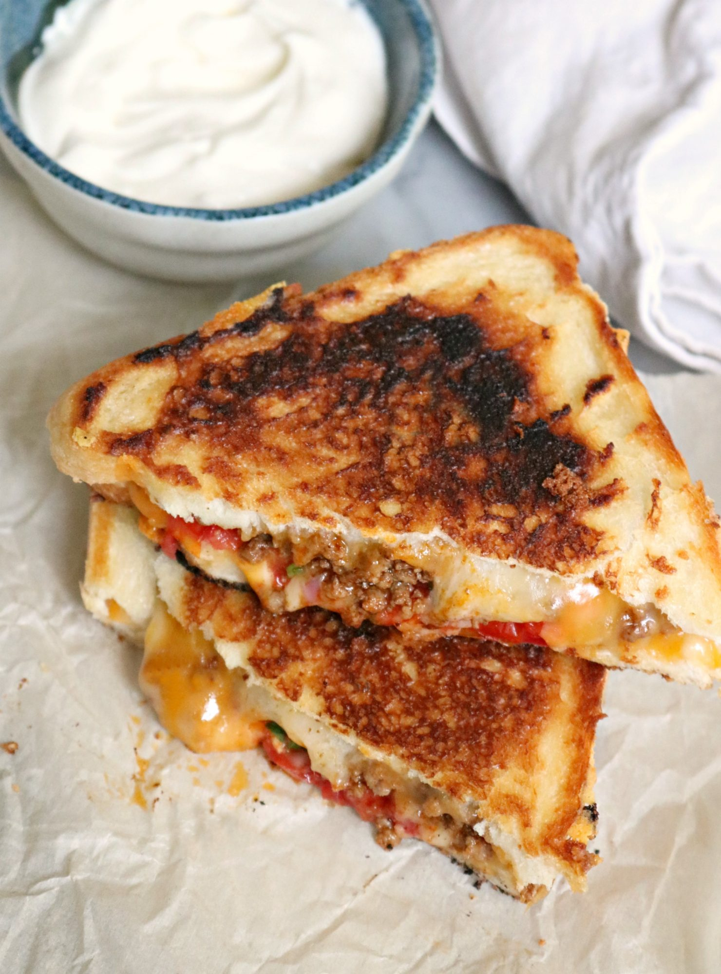 Taco grilled cheese 2