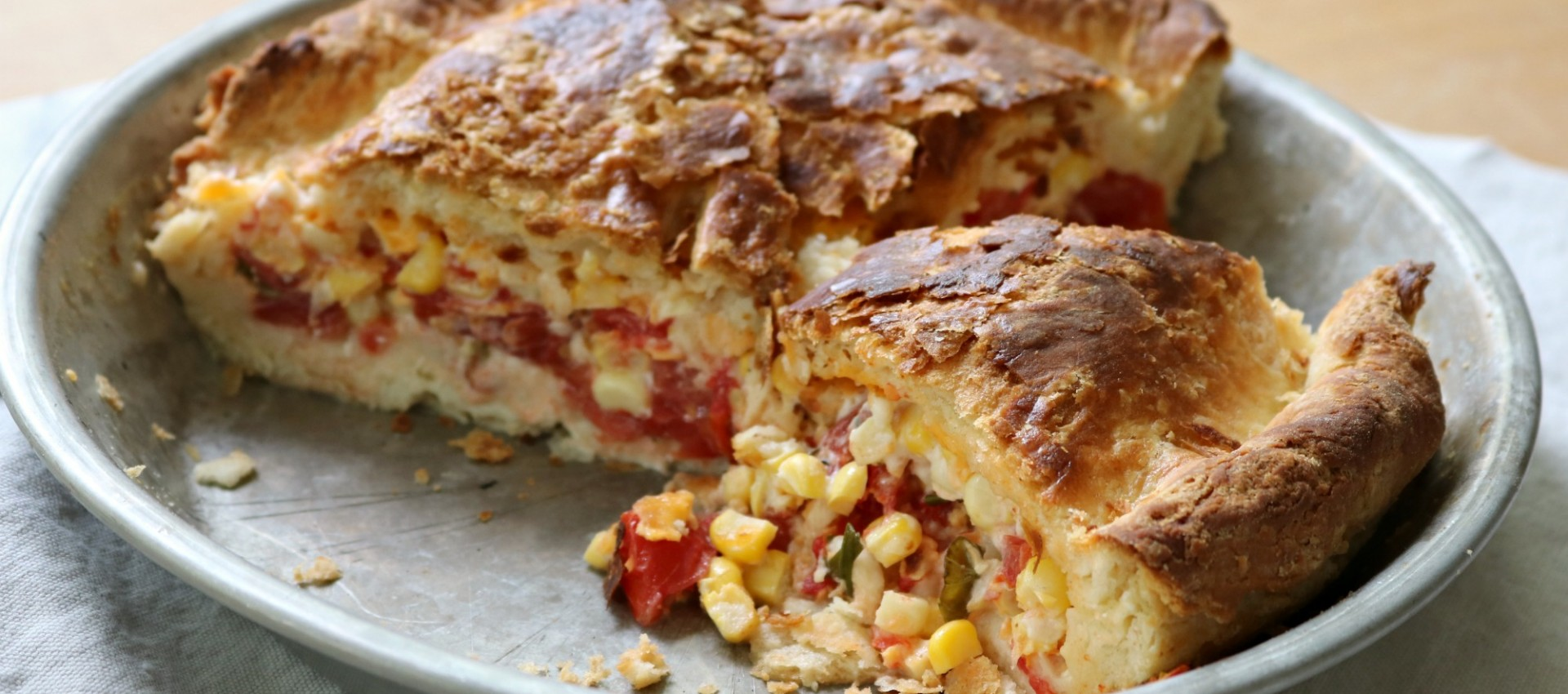 Tomato & Corn Biscuit Pie 5