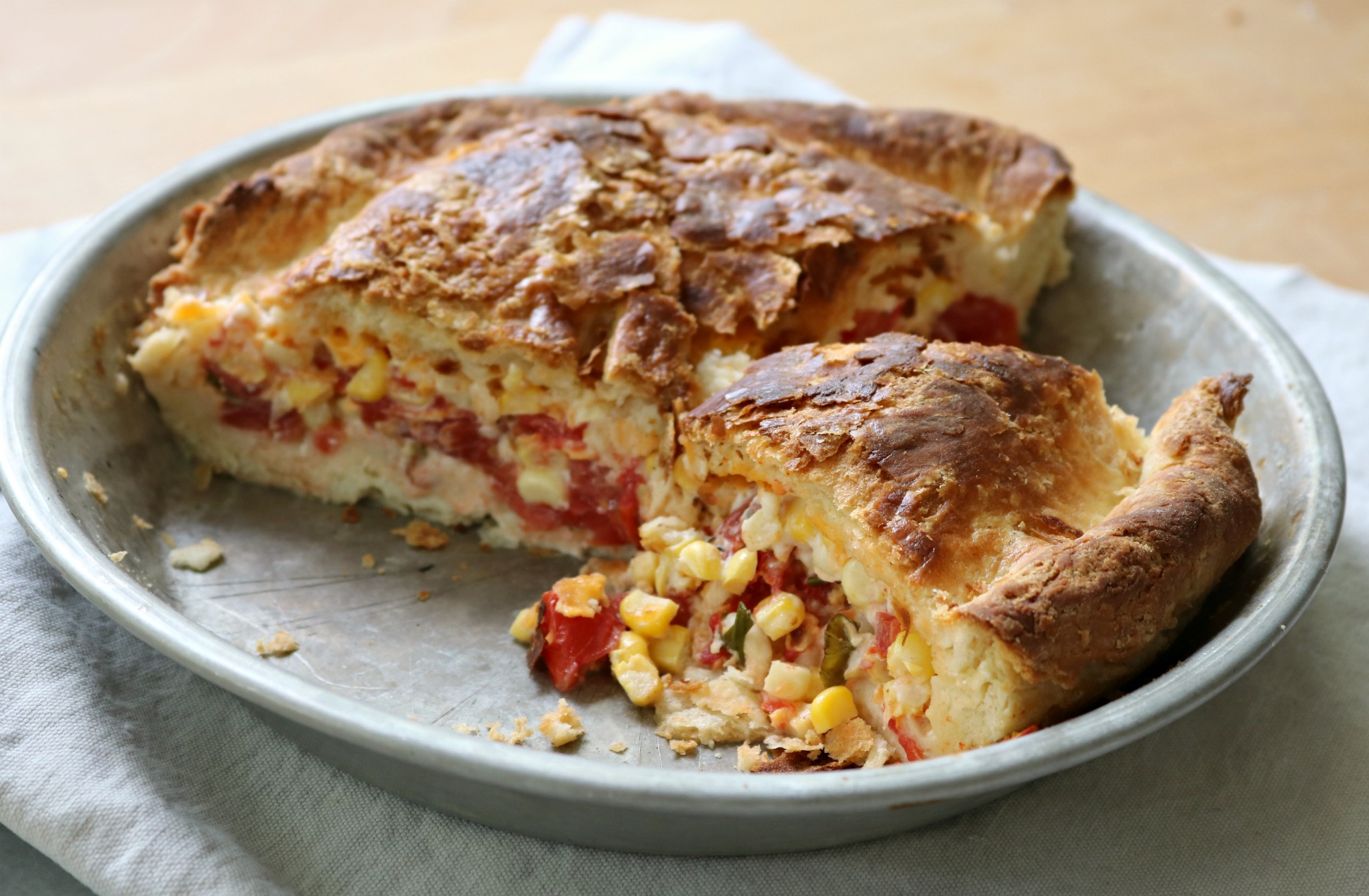 Tomato & Corn Biscuit Pie 5
