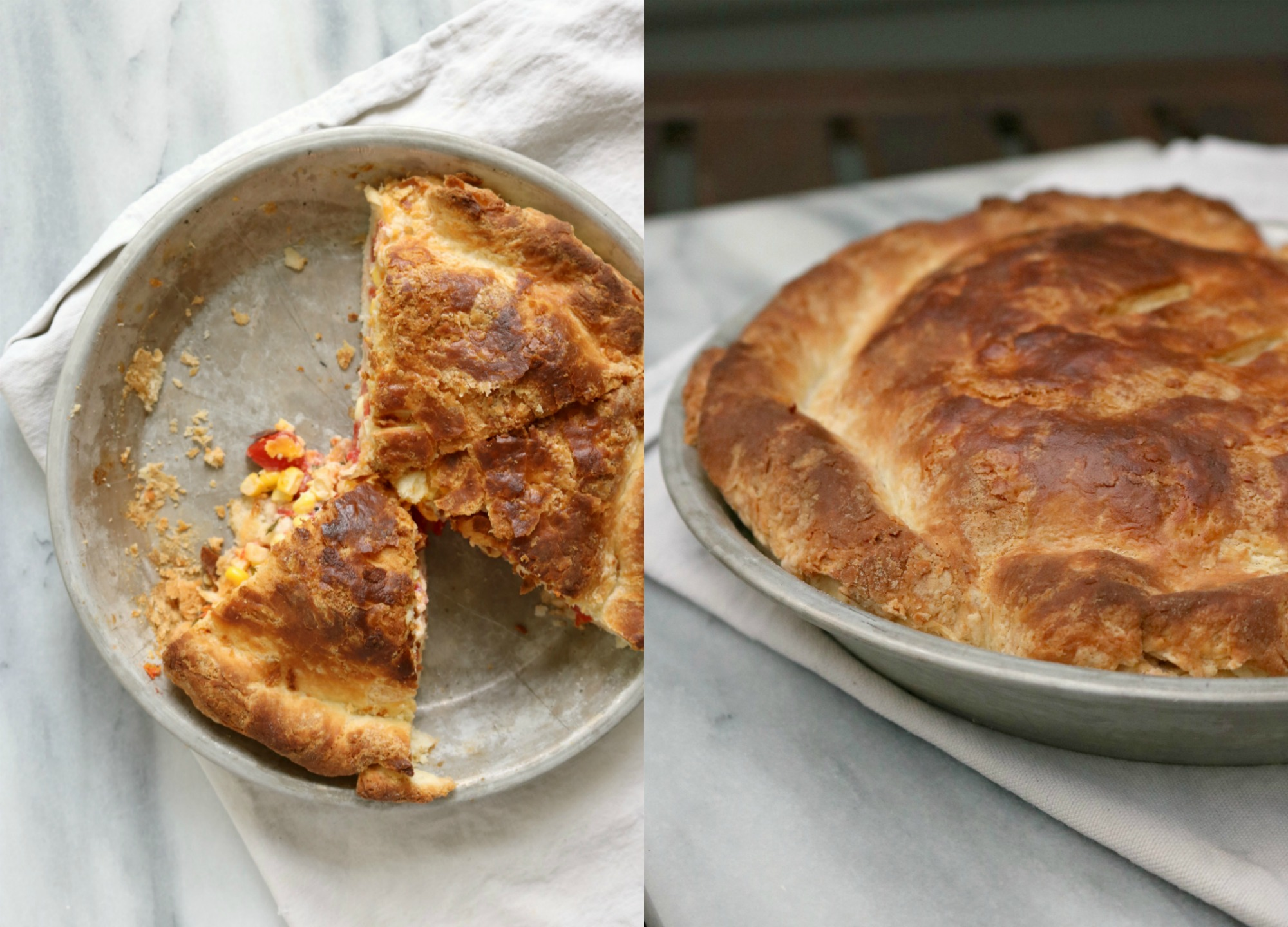 Tomato & Corn Biscuit Pie 6