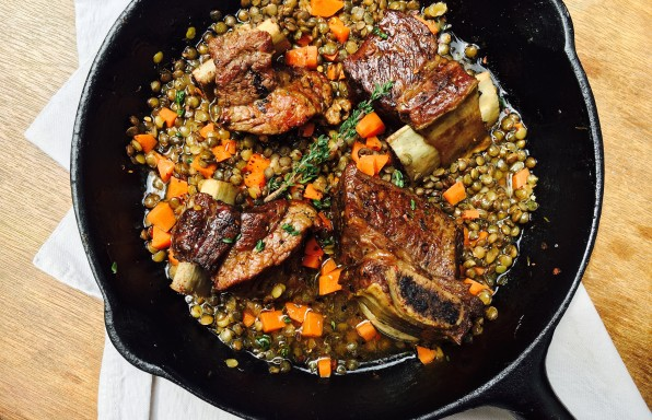 Braised Beef Short Ribs with Lentils