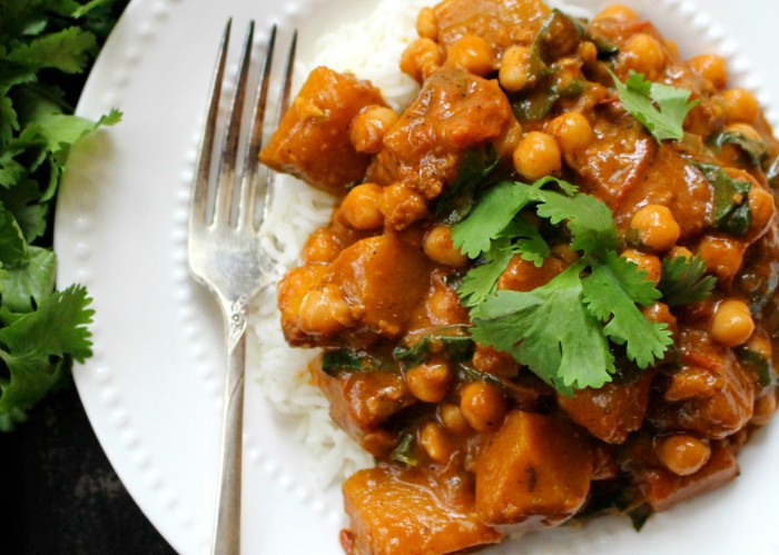 Winter Squash & Chickpea Curry