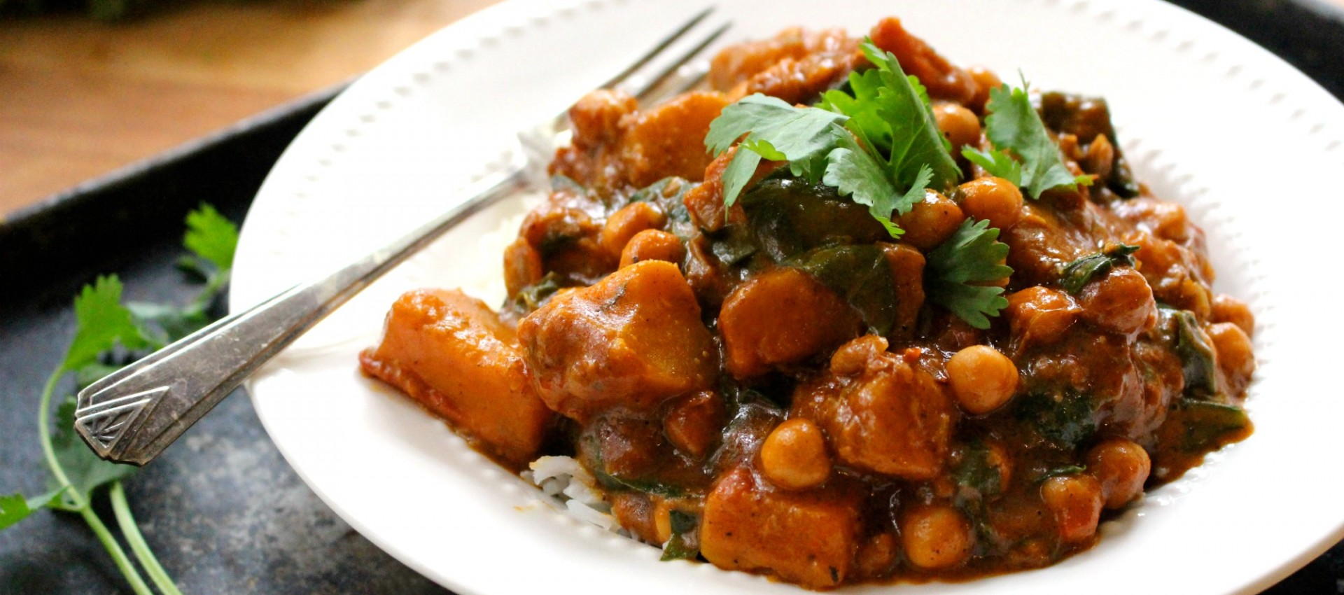 Winter squash and chickpea curry
