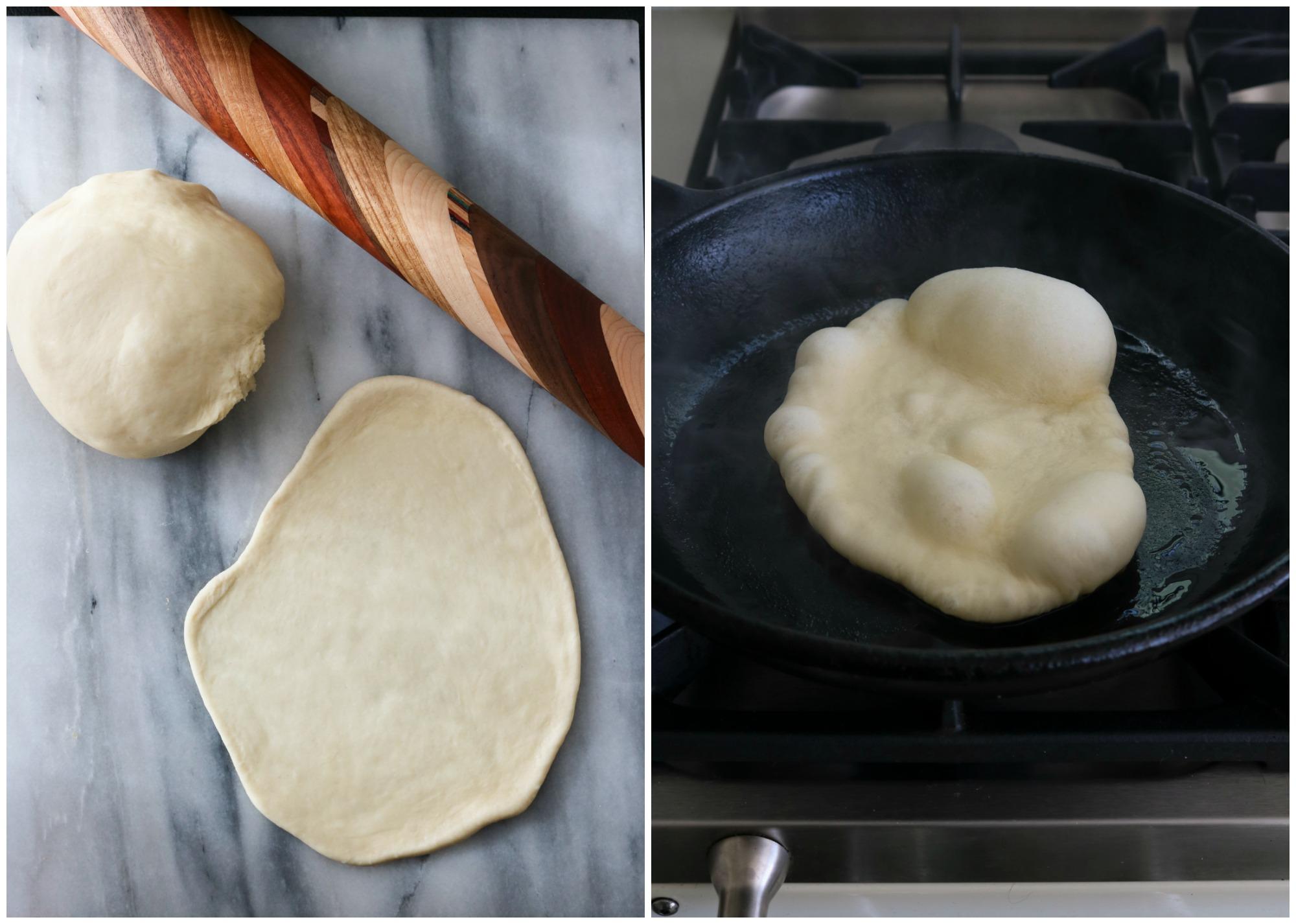Cooking naan 1