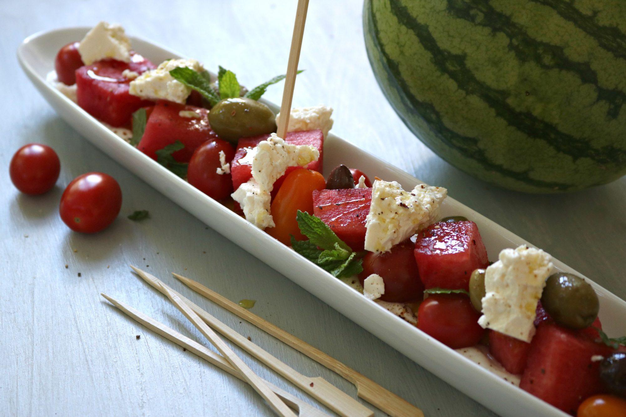 Watermelon patio nibbles
