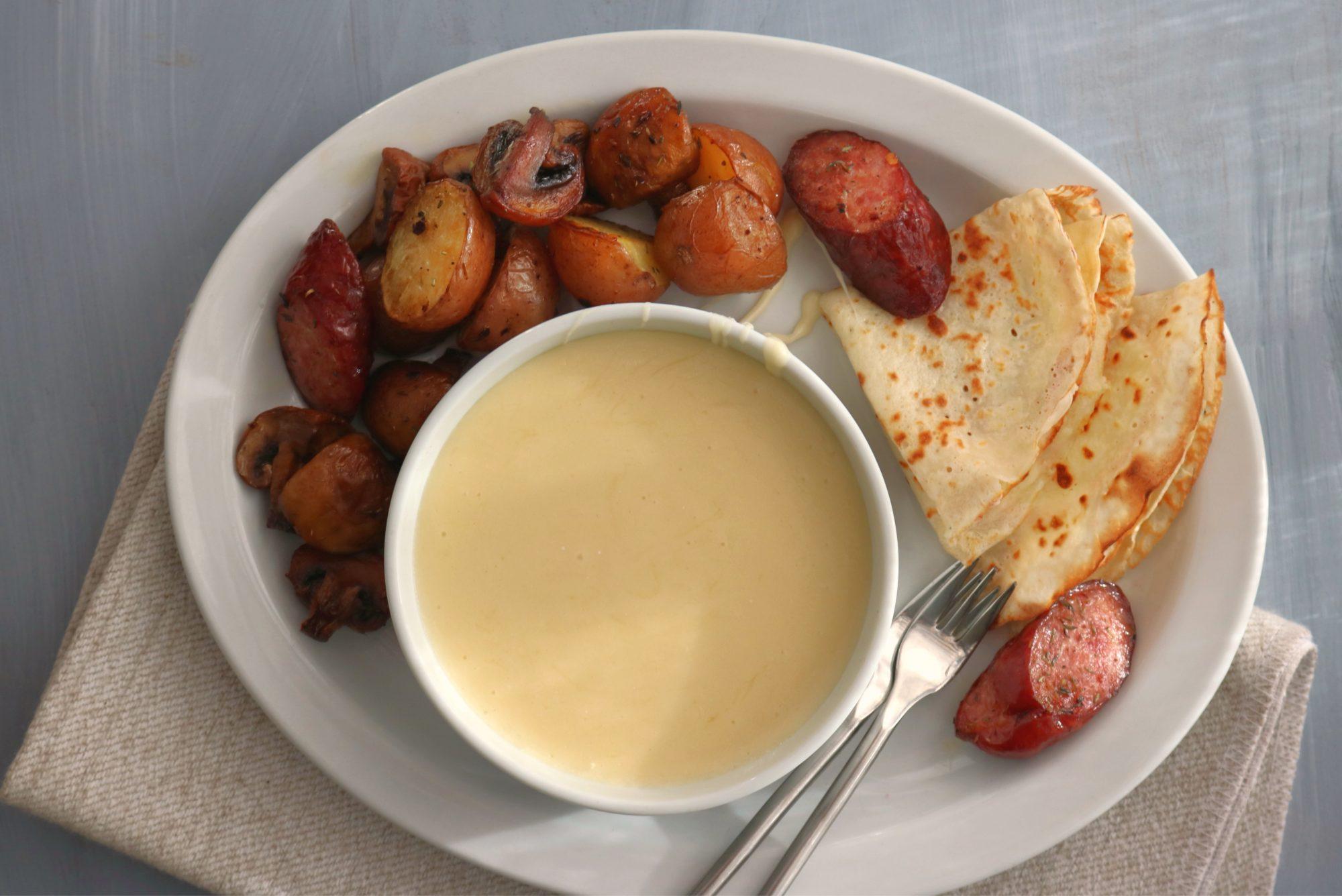 Breakfast Cheese Fondue 2