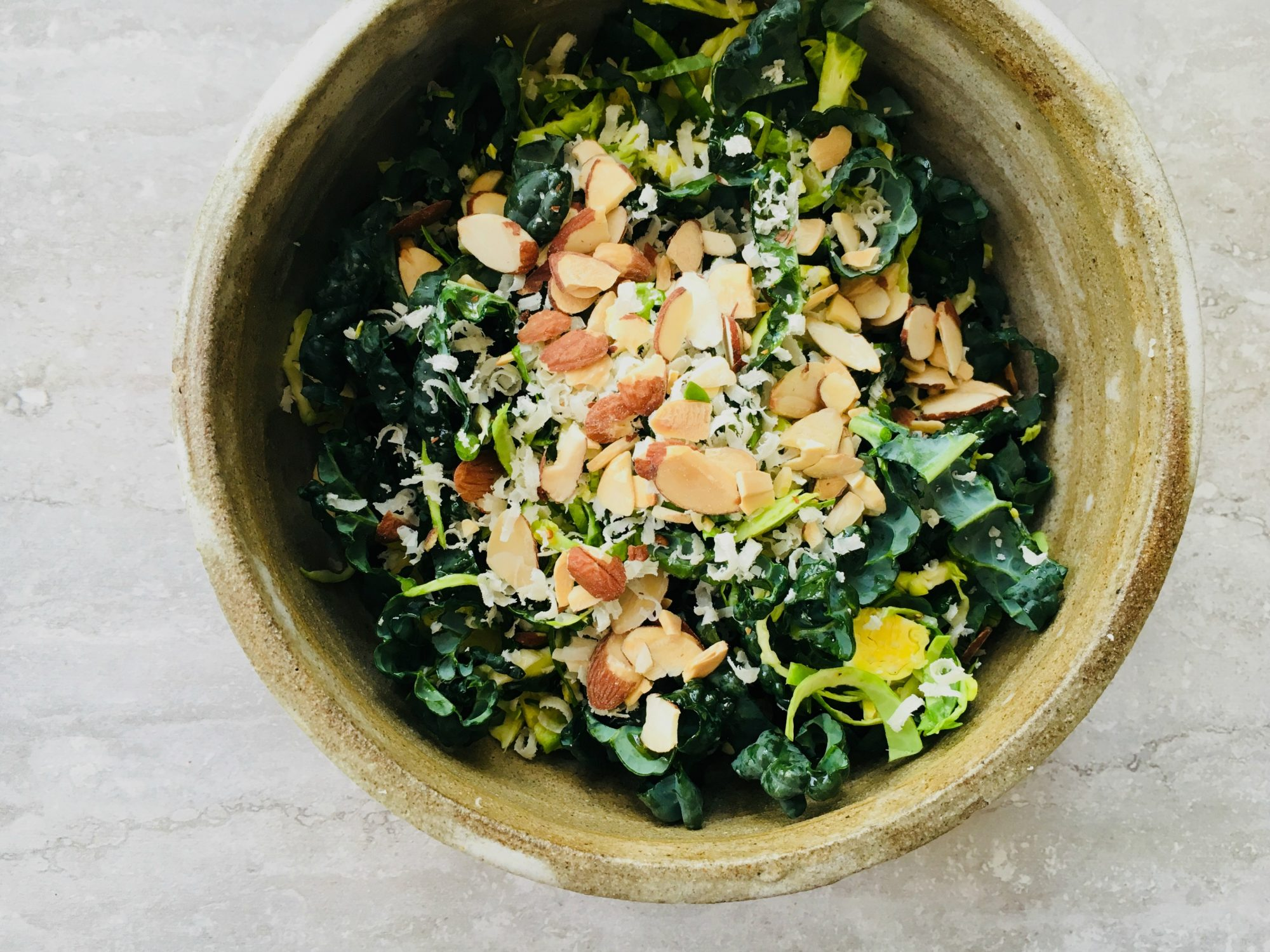 Kale & Brussels sprout salad