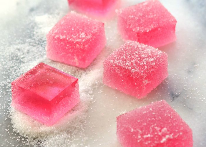 Rose wine jellies