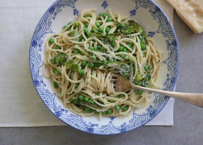 Pasta with Peas + Lettuce